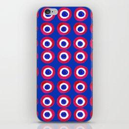 Donut Evil Eye Amulet Talisman - red on blue doughnut iPhone Skin