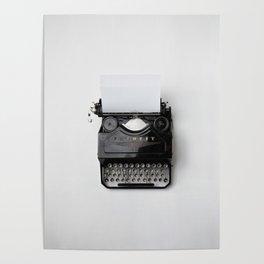 Old fashion typewriter Poster