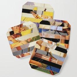 Glitch Pin-Up Redux: Isabella Coaster