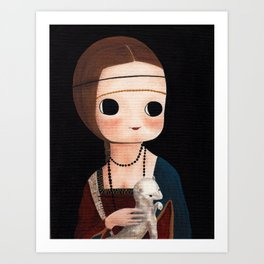 The Lady with Ermine Art Print
