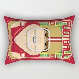 American Football Red and Gold - Enzone Puntfumbler - Bob version Rectangular Pillow