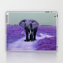 African Bull Elephant in Purple Laptop & iPad Skin