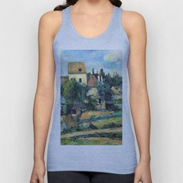 1881 - Paul Cezanne - Mill on the Couleuvre at Pontoise Unisex Tank Top