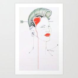 Heartache Is Mental Art Print