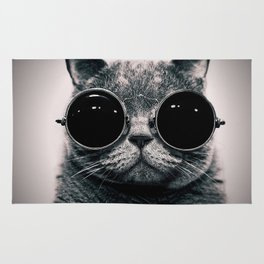 Hipster Cat Rug
