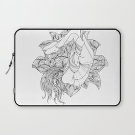 aerial yoga abstract lotus outlines // coloring page Laptop Sleeve