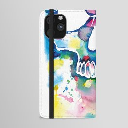 Color Skull iPhone Wallet Case