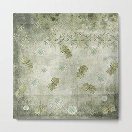 Sage Green Wallflowers Metal Print