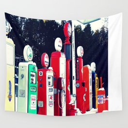 Vintage Gas Station Wall Tapestry