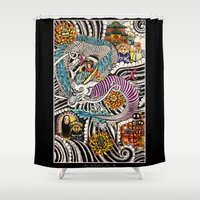 spirited away Shower Curtains featuring Spirited Away by alxbngala