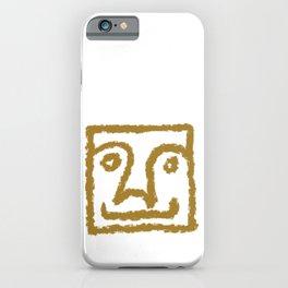 Minimalist Brush Stroke Face 010 iPhone Case