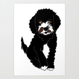 Milo the Labradoodle Puppy Art Print