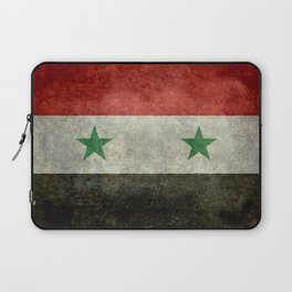 Flag of Syria, vintage retro style Laptop Sleeve