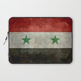 Flag of Syria, vintage retro style Laptop Sleeve