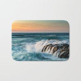 Cape Perpetua Ocean Waterfall Sunset Bath Mat