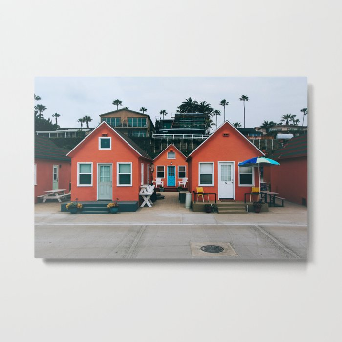 Beach Bungalows Metal Print