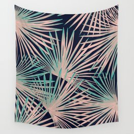 Tropical Fan Palm Leaves #5 #tropical #decor #art #society6 Wall Tapestry
