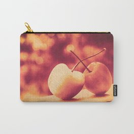 Sweet Moment (Rainier Cherries with Gold & Wine Red Bokeh Background) Carry-All Pouch