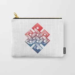 Colored Buddhist knot of eternity Carry-All Pouch
