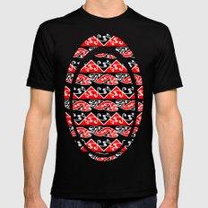 Kowhaiwhai Traditional Maori Koru Pattern Mens Fitted Tee MEDIUM Black