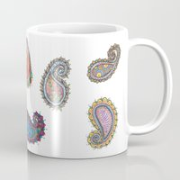 paisley Mugs featuring Paisley by WelshPixie
