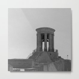 Old Bell Tower BW  Metal Print