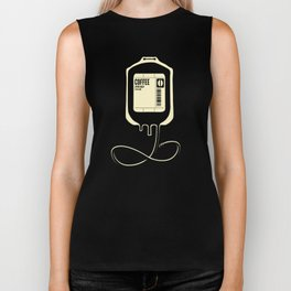 Coffee Transfusion - Black Biker Tank