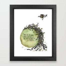 3 Parable of the Sower Series - Thorns Framed Art Print