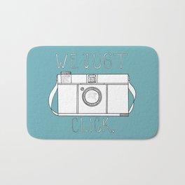 We Just Click Camera Illustration by Imaginarium Arts Bath Mat