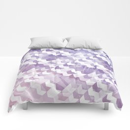 Abstract Geometric Cubes Design Comforters