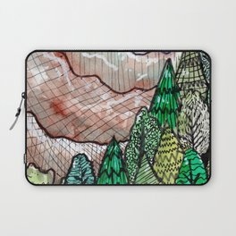 landscape forest montain pines Laptop Sleeve