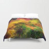 blanket Duvet Covers featuring Blanket of Stars by Klara Acel