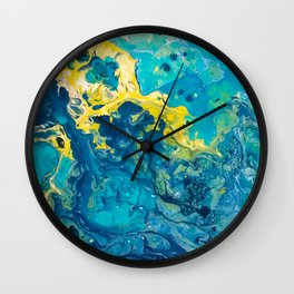 Waves from Space Wall Clock