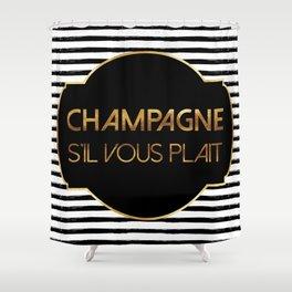 Champagne S'il Vous Plait Shower Curtain