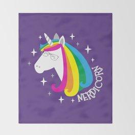 Nerdicorn Throw Blanket