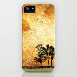 Fine Art of The Falling Tree of My Homeland iPhone Case
