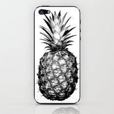Black & White Pineapple iPhone & iPod Skin