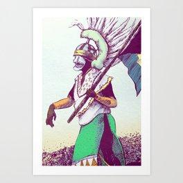 Costumed Person Art Print