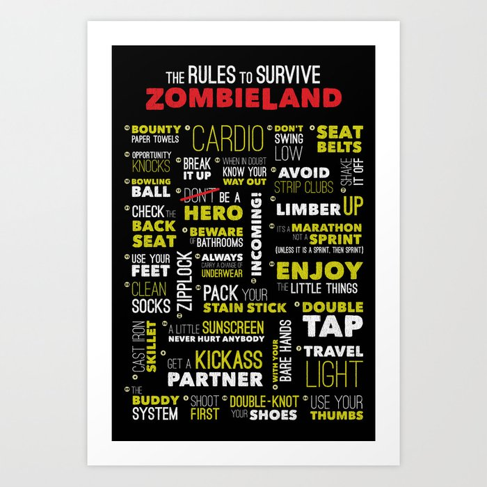 Surviving Zombieland Art Print