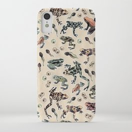 Frog pattern iPhone Case