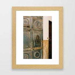 Roman Door V Framed Art Print