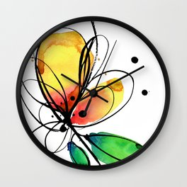Ecstasy Bloom No.8 by Kathy Morton Stanion Wall Clock