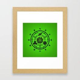 Legend Of Zelda Historia Framed Art Print