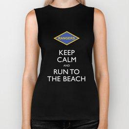 KEEP CALM AND RUN TO THE BEACH. Biker Tank