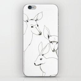 Deers and Rabbit iPhone Skin
