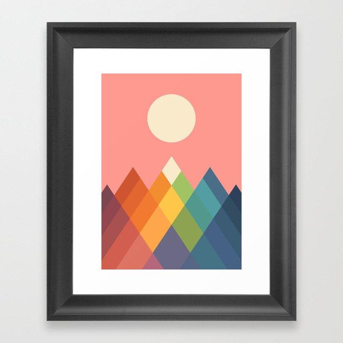 Rainbow Peak Gerahmter Kunstdruck