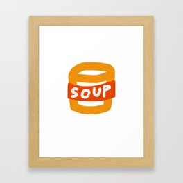 Food Illustration (Soup Can #1 from Food Island) Framed Art Print