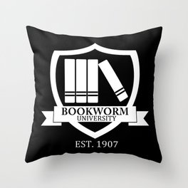 Bookworm University - Inverted Throw Pillow