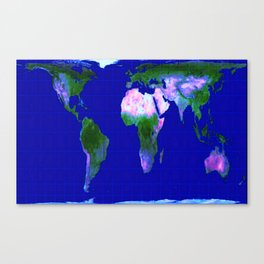 World Map : Gall Peters Canvas Print