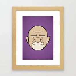 Faces of Breaking Bad: Mike Ehrmantraut Framed Art Print